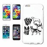 Reifen-Markt Hard Cover - Funda para teléfono móvil Compatible con Samsung Galaxy S3 Mini Perro Perros Vendimia CRIANZA CASA Perros Perrera DE CRIADORES DE Perrito