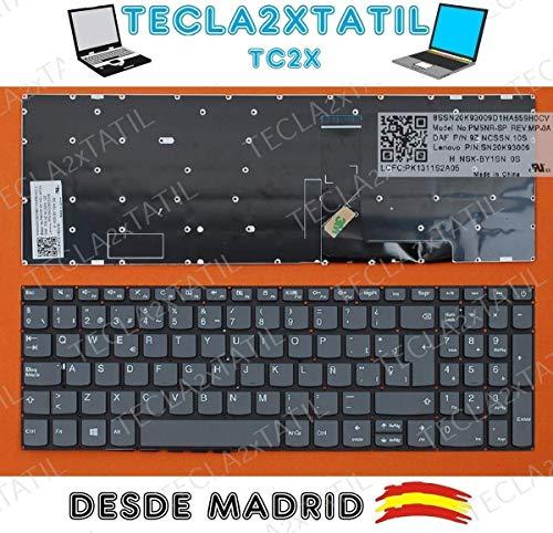 Teclado para PORTATIL Lenovo IDEAPAD 320-15ISK EN ESPAÑOL Gris SIN Marco