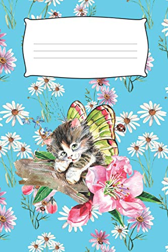 Kitty In The Daisies: Cat Journal For Girls (6 x 9 in, 150...