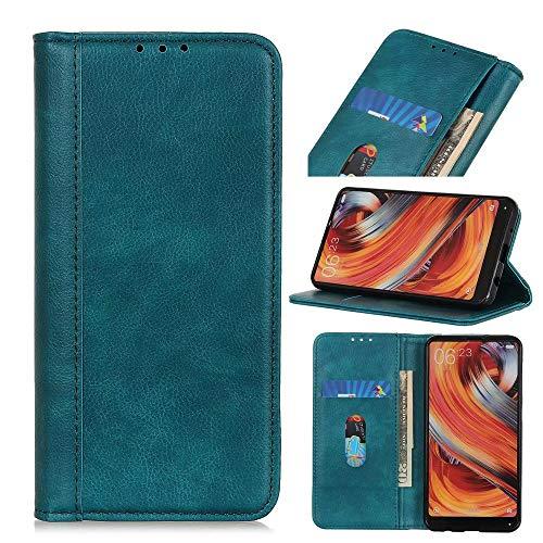Funda tipo libro para Samsung Galaxy M62 F62, a prueba de golpes, con ranura para tarjeta, funda de piel sintética, cierre magnético, funda protectora para Samsung Galaxy M62 F62, color verde oscuro