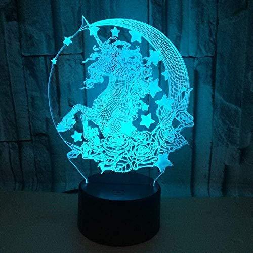 Baby Spielzeug Lámpara de ilusión 3D LED noche luz grieta escritorio remoto interruptor táctil 16 color cambiante decoración fábrica al por mayor USB niños s lámpara de mesa para dormitorio