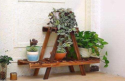 LYHY Étagère à Fleurs Support de Plante en Bois Intérieur à Plusieurs étages Intérieur Simple Balcon Salon Support de Pot de Rangement LxPxH: env. 75 & Fois; 26 & Fois; 45cm