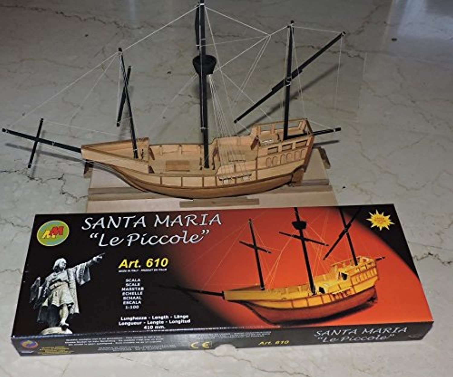 Mantua Models Santa Maria Ideal for Beginners 1 100th Scale Wooden Model Ship Kit 610