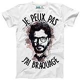 Kanto Factory T-Shirt La CASA de Papel El Professor Je Peux Pas J'Ai braquage (S)