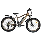 CZFJ Electric Mountain Bike,750W26''4 inch Fat Tire Electric Bicycle with 48V 10.4AH Removable Lithium Battery,Shimano Outer 7 Speed,Aostirmotor Electric Mountain Bike for Adults(Camouflage)