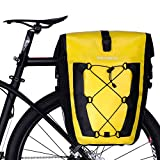 ROCKBROS Bike Pannier Waterproof 27L Large Capacity Bike Bag Rear Rack Bicycle Pannier Bag Waterproof for Grocery Touring Cycling (Yellow1)