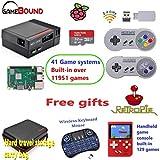 NES RetroPie 3B + Gaming System & Emulation Station, Wireless Controller, NES Travel Case,Mini Wireless Keyboard ( Black )