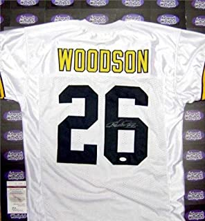 Rod Woodson autographed Jersey (Pittsburgh Steelers Football Hall of Famer) XL JSA Authentication Certificate