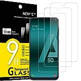 NEW'C 3 Unidades, Protector de Pantalla para Samsung Galaxy A50 (SM-A505F), Antiarañazos,...