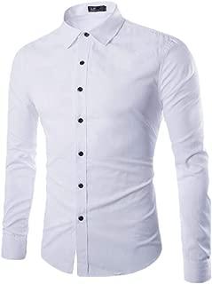 Mens T-Shirt Long-Sleeve Button Down Dress Shirts Business OL T-Shirts