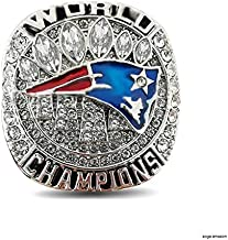 Zoga NFL Patriots Super Bowl Ring, New England 2019 Championship Ring Replica