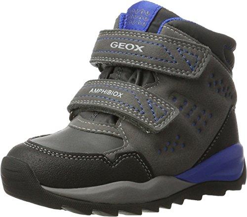 Geox J Orizont Boy ABX A, Botas de Nieve Niños, Gris (Grey/Royal), 29 EU