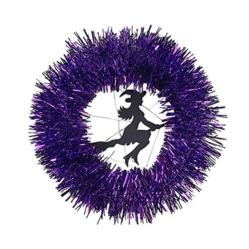 CHENPENG Guirnaldas Brillantes de Halloween, Guirnalda iluminada en la Pared de la Puerta Delantera, para la Pared de la Mesa de la Puerta Delantera Decoraciones de Acción de Gracias de Halloween