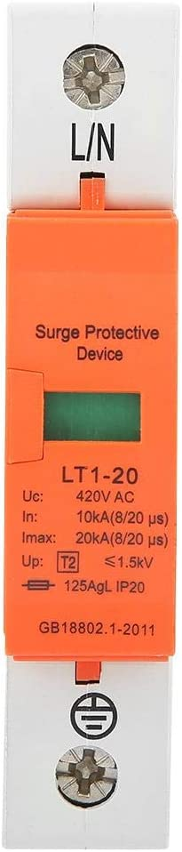 Very popular Free Shipping Cheap Bargain Gift 1P 10kA-20kA Lightning Protector 420vAC L House Protective Surge