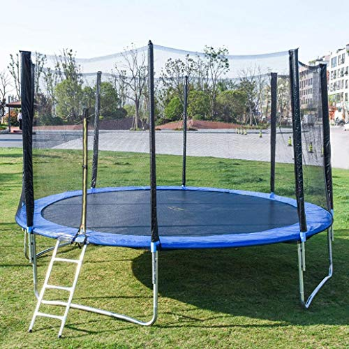 AT-X 12 FT Recreational Trampolines with Enclosure Net Jumping Mat and Spring Cover Padding for Kids Outdoor, Exercise Gym Fitness Trampoline Sports Power, 600 LBS Weight Capacity [US Stock]