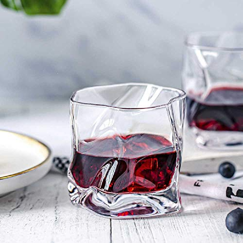 chengtengkejibaihuod Speciaal Gevormd Whiskyglas Komatsu Wijnglas Japans Wijnglas Bier 2 Kopjes Gouden Kristallen Beker 8,3 * 8,3 cm/Transparant(2)