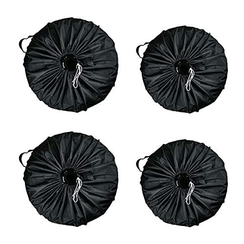 1 Pieza de Cubiertas de Rueda de Repuesto Nuevo Universal Car SUV Cubierta de neumático Rueda de Repuesto Bolsa de Rueda de Repuesto Cubierta de Almacenamiento de Repuesto Tote Poliéster Tela Oxford