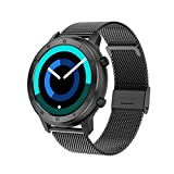 YDL Smart Watch Women IP68 Pulsera Impermeable ECG Monitor De Ritmo Cardíaco Monitoreo De Sueño Deportes SmartWatch para Damas (Color : Mesh Black)