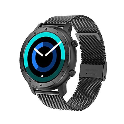 GYY Smart Watch Full Touch Redondo Pantalla Redonda IP68 a Prueba De Agua SmartWatch Women para Android iOS Teléfono Hombres Reloj (Color : Mesh Black)
