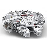 WANZPITS Ultimate Collector Series Medium Scale Millennium Falcon Architecture Model MOC-24884 Creator Expert Spaceship Build Great Building Blocks Set, Compatible con Lego,(3361 Pieces)