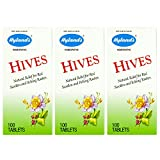 Hyland's Hives Relief Treatment, Natural Relief for Red, Swollen, and Itching Rashes due to Hives, 100 Quick Dissolving Tablets(Pack of 3)