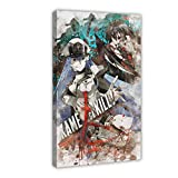 Akame Ga Kill Anime Esdeath Vs Akame Poster Decorative Painting Canvas Wall Art Living Room Posters Bedroom Painting 12×18inch(30×45cm)