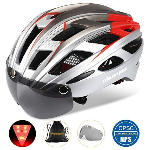 Fahrradhelm,CE-Zertifikat,Fahrradhelm mit Abnehmbarer Schutzbrille Visor Shield für Männer Frauen Mountain & Road Fahrradhelm Einstellbarer Sicherheitsschutz Skateboarding Ski & Snowboard