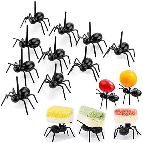 Hard-working Ants Moving Fruit Fork, Reusable Animal Fruit Picks, Preciosas Mini Hormigas De Plástico Para Palillos De Frutas, Tenedores De Postre, Palillos De Comida Para Hormigas (36 piezas)