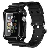 iitee Robuste de Protection iWatch Bracelet de Carter et avec Protection d'écran intégrée pour Apple Watch Série 3/2/1