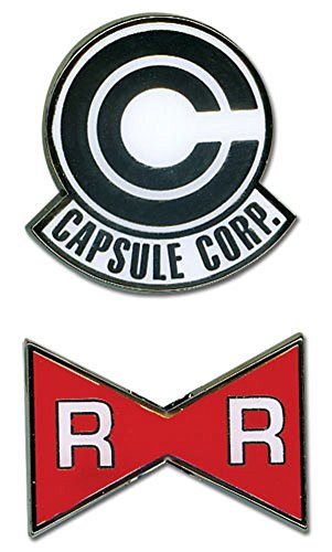 Dragon Ball Z - Capsule Corp. and Red Ribbon Army Pins (Set of 2)