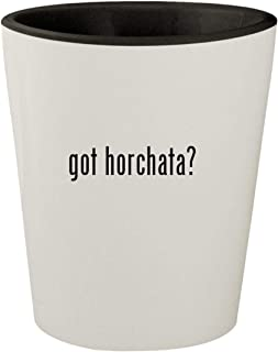 got horchata? - White Outer & Black Inner Ceramic 1.5oz Shot Glass