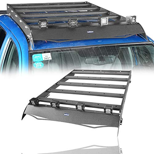 u-Box Tacoma Roof Rack Top Cargo Carrier Basket w//LED Lights Support Shark Fin Antenna for 2005-2020 Toyota Tacoma 4 Doors Gen 2//3