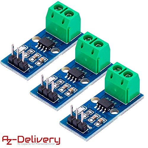 AZDelivery 3 x ACS712 30A Ampere Stromsensor Range Modul Current Sensor für Arduino Bascom