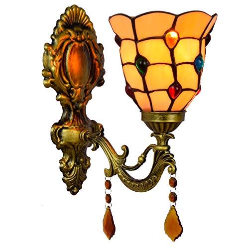 Lámpara de pared decorativa retro americana Lámpara de pared del grano de 6 pulgadas británica minimalista creativas espejos de baño faros lámpara de pared cristalina jardín de noche pasillo