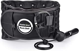 Decompression Back Belt Support for Men & Women Instant Relief for Back Pain Decompression Back Belt Back Pain Lumbar Support One Size for 29 inches to 49 inches Waists Black