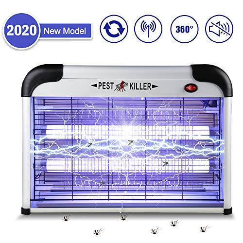 Innoo Tech Portable Insect Electric Bug Zapper, 2020 Upgrade 2800V Mosquito Killer 20W UV Lamp,...