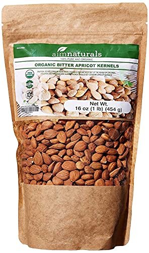 Bitter Apricot Kernels Organic Raw (1LB)-100% USDA Organic...