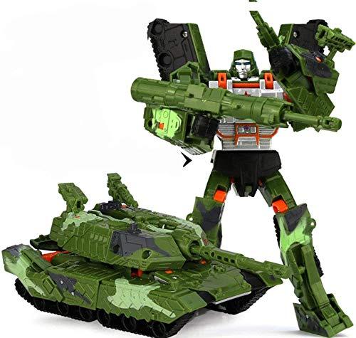 YQYW Juguetes transformados King Kong Deformation Robot Car Transformation Tank 19cm