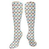 NE Fashion Athletic Long Socks, for Men Women Teens Girls Dress Socks, Casual Cute Rats Leggings Stockings