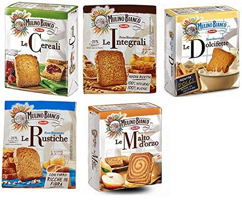 TESTPAKET Mulino Bianco Fette Biscottate 5 x 315g Zwieback kekse