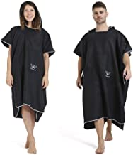 Winthome Changing Robe Towel Poncho with Pocket for Surfing Swimming Wetsuit Changing, Quick Dry & Light Weight