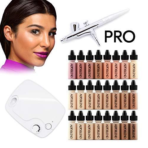 Aeroblend Airbrush Makeup PRO Starter Kit - Professional Cosmetic...