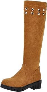 FANIMILA Women Fashion Autumn Knee High Boots Pull on