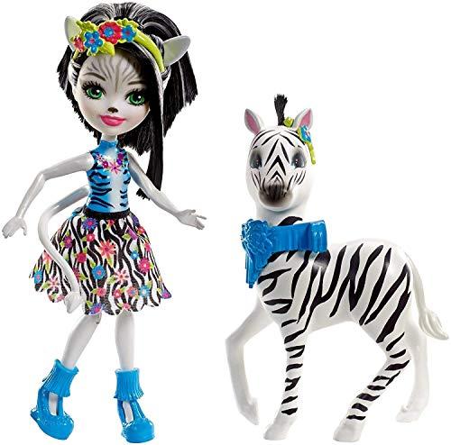 Enchantimals Muñeca con mascota Zelena Zebra - (Mattel FKY75)