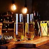 Amisglass Sektgläser Set, 6 stück, 300ml Champagner Gläser, klares Kristallglas, kristallklare Klarheit, Bleifrei & Hochwertig - 7
