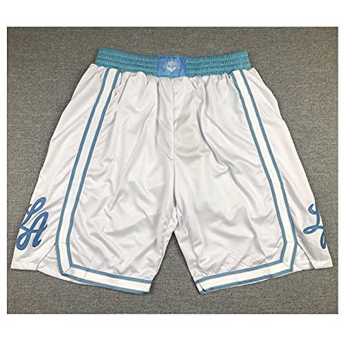 Pantalon Corto Deporte Hombre, Denver Nuggets, Milwaukee Bucks, Los Angeles Lakers, Boston Celtics, Memphis Grizzlies, Brooklyn Nets, Pantalones Baloncesto Hombre, Pantalon Corto(Size:XXL,Color:A7)