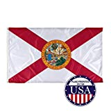 Vispronet - Florida State Flag - 3ft x 5ft Knitted Polyester for Superior Outdoor Performance - Made in The USA (Flag Only)