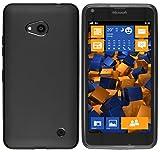 mumbi Hülle kompatibel mit Microsoft Lumia 640 Handy Case Handyhülle, schwarz