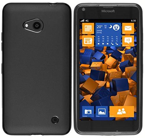 mumbi Hülle kompatibel mit Microsoft Lumia 640 Handy Hülle Handyhülle, schwarz