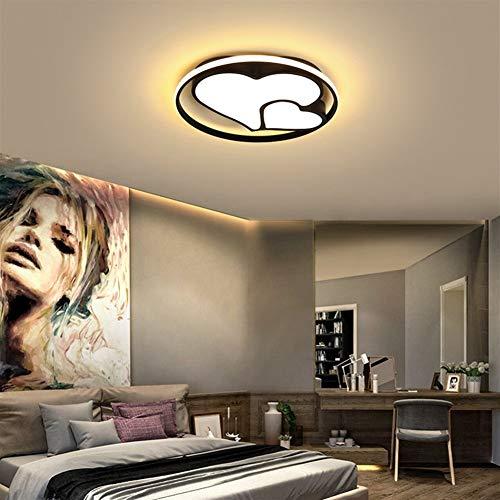 LVYI slaapkamerlamp eenvoudige moderne warme romantische bruiloft kamer ronde LED plafondlamp creatieve persoonlijkheid ruimte study lamp geschikt voor badkamer, keuken en hal